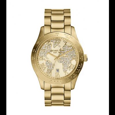 Michael Kors Ladies Layton Gold-Tone Watch MK5959