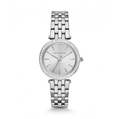 Michael Kors Ladies Mini Darci Silver-Tone Watch MK3364