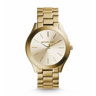 Michael Kors Ladies Slim Runway Gold-Tone Watch MK3179