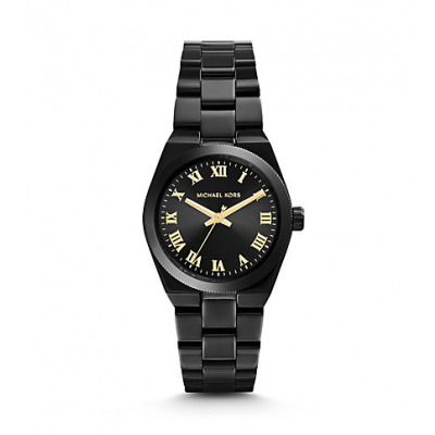 Michael Kors Ladies Channing Black-Tone Watch MK6100