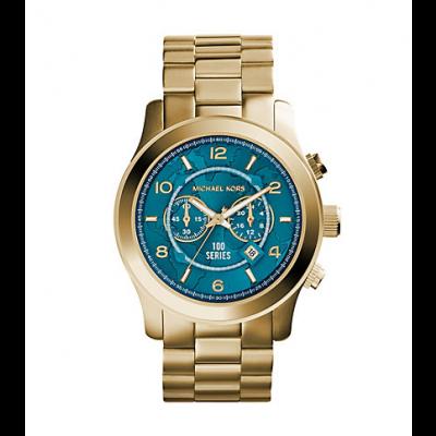 Michael Kors Ladies  Watch Hunger Stop Oversized Runway Gold-Tone Watch MK8315