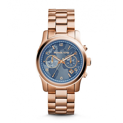 Michael Kors Ladies  Watch Hunger Stop Runway Rose Gold-Tone Watch MK5972