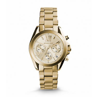 Michael Kors Ladies Bradshaw Gold-Tone Watch MK5798