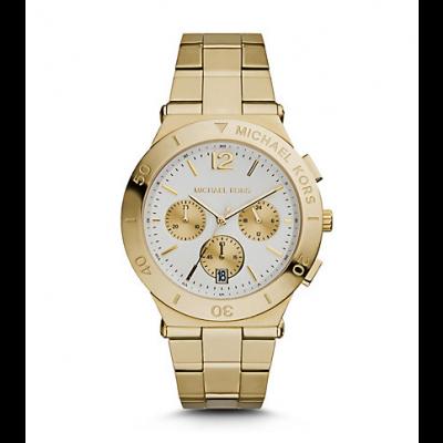 Michael Kors Ladies  Wyatt Gold-Tone Watch MK5933