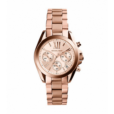 Michael Kors Ladies Bradshaw Rose Gold-Tone Watch MK5799