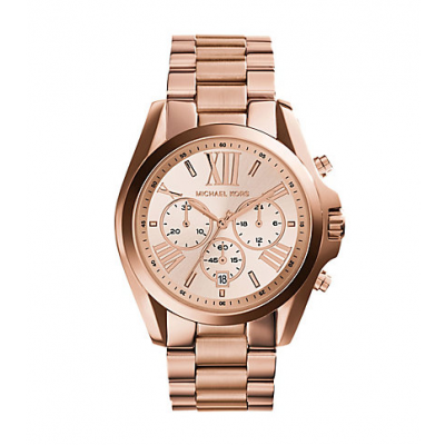 Michael Kors Ladies Oversized Bradshaw Rose Gold-Tone Watch MK5503