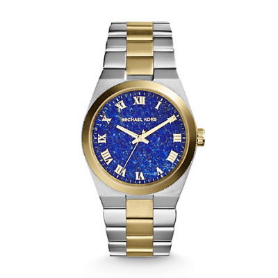 Michael Kors Ladies Channing Silver and Gold-Tone Watch MK5893