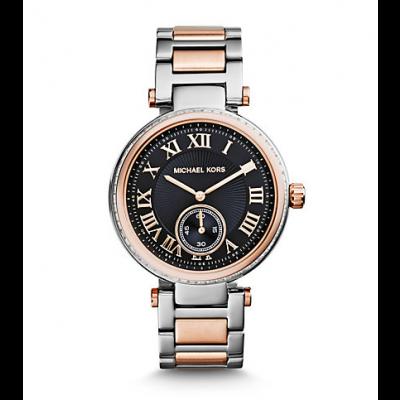 Michael Kors Ladies Skylar Silver and Rose Gold-Tone Bracelet Watch MK5957