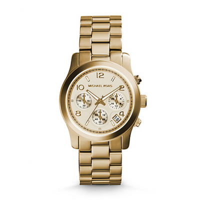 Michael Kors Ladies Runway Gold-Tone Chronograph Watch MK5055