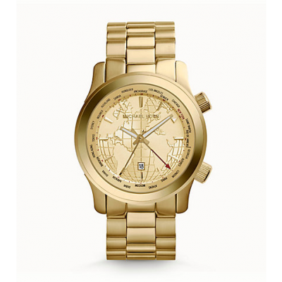 Michael Kors Ladies Oversized Runway Gold-Tone Watch MK5960