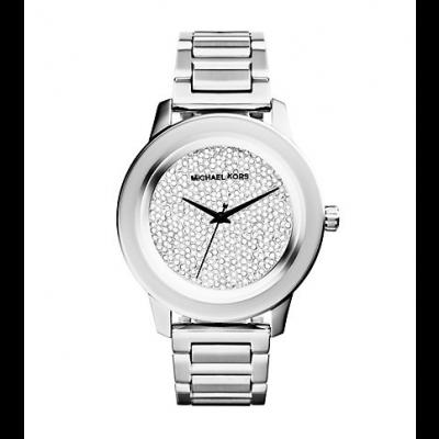 Michael Kors Ladies Kinley Pavé Silver-Tone Watch MK5996