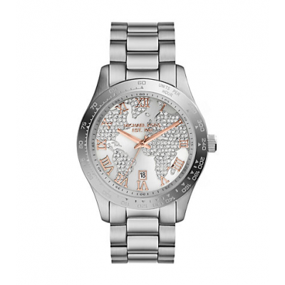 Michael Kors Ladies Layton Silver-Tone Watch MK5958