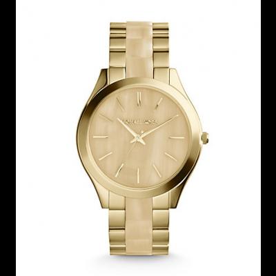 Michael Kors Ladies Slim Runway Silver-Tone Watch MK4285