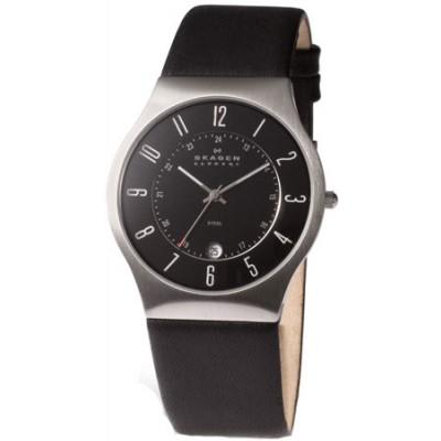 Skagen Men's Elegant Leather Straps 233XXLSLB