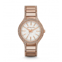 Michael Kors Ladies Kerry Pavé Rose Gold-Tone Watch MK3348