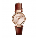 Michael Kors Ladies Kinley Pavé Silver-Tone Watch MK2353