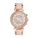 Michael Kors Ladies  Parker Rose Gold-Tone Blush Acetate Watch MK5896