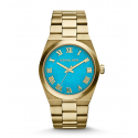 Michael Kors Ladies Channing Turquoise and Gold-Tone Watch MK5894