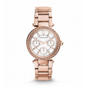 Michael Kors Ladies Mini Parker Pavé Silver-Tone Watch MK5616