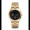 Michael Kors Ladies  Reagan Onyx and Gold-Tone Watch MK6078