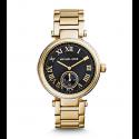 Michael Kors Ladies Skylar Black and Gold-Tone Bracelet Watch MK5989