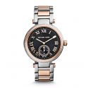 Michael Kors Ladies Skylar Silver and Rose Gold-Tone Bracelet Watch MK5957