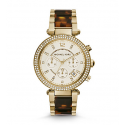 Michael Kors Ladies Parker Gold-Tone Tortoise Acetate Watch MK5688