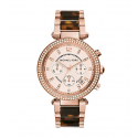 Michael Kors Ladies Parker Tortoise Acetate Watch MK5538