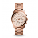 Michael Kors Ladies Rose Gold-Tone Chronograph Runway Watch MK5128