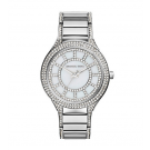 Michael Kors Ladies Kerry Pavé Silver-Tone Watch MK3311