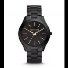 Michael Kors Ladies Slim Runway Black Stainless Steel Watch MK3221