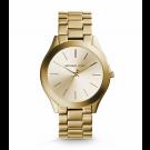 Michael Kors Ladies Slim Runway Gold-Tone Watch MK3179