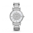 Michael Kors Ladies Catlin Pavé Silver-Tone Watch MK3355