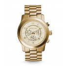 Michael Kors Ladies  Runway Oversized Gold-Tone Watch MK8077