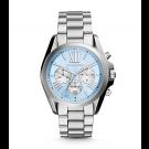Michael Kors Ladies Bradshaw Silver-Tone Watch MK6099