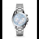 Michael Kors Ladies Bradshaw Blue-Dial Silver-Tone Watch MK6098
