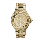 Michael Kors Ladies  Camille Pavé Gold-Tone Watch MK5720