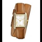 Michael Kors Ladies  Mini Emery Double-Wrap Leather Watch MK2360