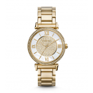 Michael Kors Ladies  Catlin Pavé Gold-Tone Watch MK3332