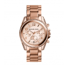 Michael Kors Ladies  Blair Rose Gold-Tone Chronograph Watch MK5263