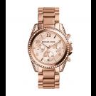 Michael Kors Ladies  Blair Rose Gold-Tone Chronograph Watch MK5263