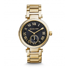 Michael Kors Ladies Skylar Black and Gold-Tone Bracelet Watch MK5989