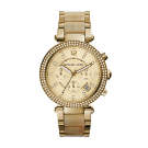 Michael Kors Ladies Parker Gold-Tone Horn Acetate Watch MK5632
