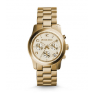 Michael Kors Ladies Runway Gold-Tone Chronograph Watch MK5055
