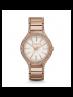 Michael Kors Ladies Kerry Pavé Rose Gold-Tone Watch MK3348