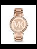 Michael Kors Ladies  Parker Pavé Rose Gold-Tone Watch MK5865