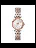 Michael Kors Ladies Petite Darci Silver and Rose Gold-Tone Watch MK3298