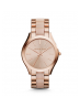 Michael Kors Ladies Slim Runway Rose Gold-Tone Acrylic Watch MK4294