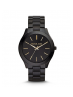 Michael Kors Ladies Slim Runway Black Stainless Steel Watch MK3221