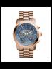 Michael Kors Ladies Watch Hunger Stop Oversized Runway Rose Gold-Tone Watch MK8358